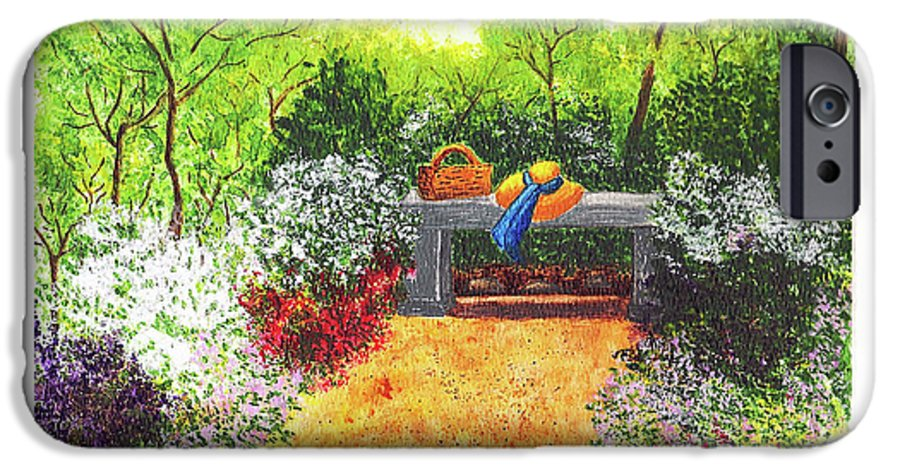 Garden Painting IPhone 6s Case featuring the painting Sanctuary by Patricia Griffin Brett