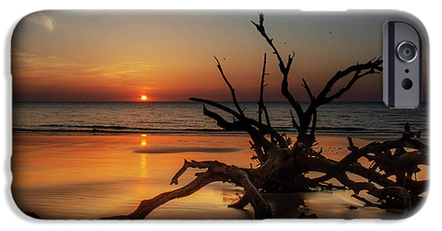 Chrystal Mimbs IPhone 6s Case featuring the photograph Sand Surf And Driftwood by Chrystal Mimbs
