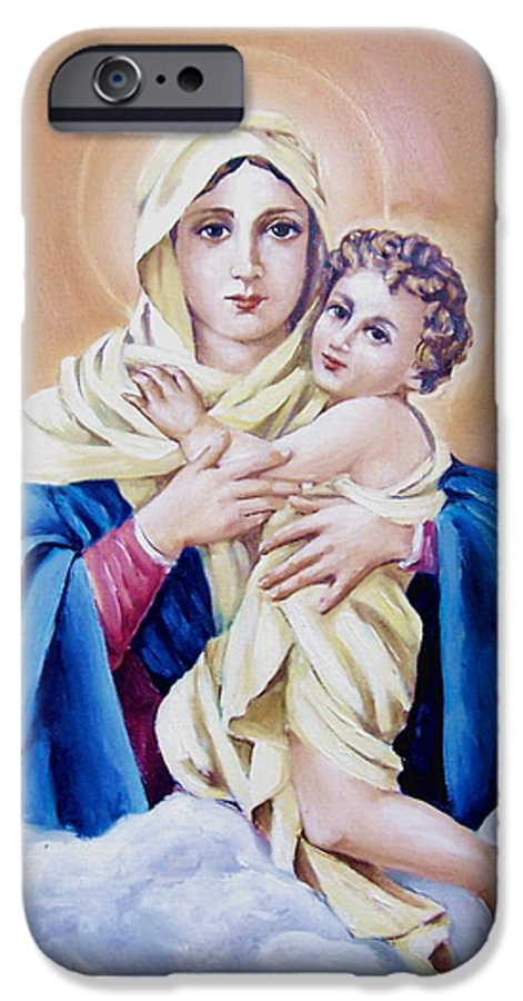 Religious IPhone 6s Case featuring the painting Schoenstat-tribute by Natalia Tejera