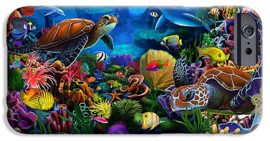 Gerald Newton IPhone 6s Case featuring the digital art Sea Of Beauty by MGL Meiklejohn Graphics Licensing