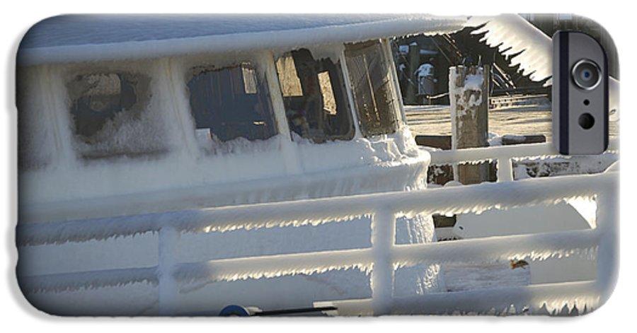 Fishing IPhone 6s Case featuring the photograph Sea Spray Ice by Faith Harron Boudreau