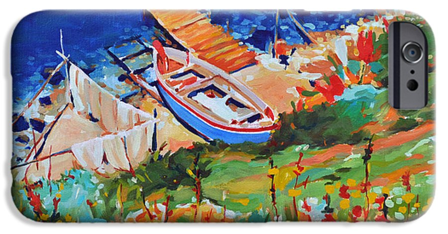 Seascape IPhone 6s Case featuring the painting Seacoast by Iliyan Bozhanov