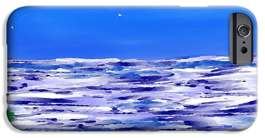 Sea.evening.night.silence.water.waves.deep Water.quiet .coast.sky.stars.calm.no Wind IPhone 6s Case featuring the digital art Sea.moon Light by Dr Loifer Vladimir