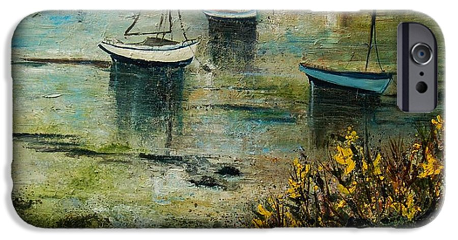 Seascape IPhone 6s Case featuring the print Seascape 78 by Pol Ledent
