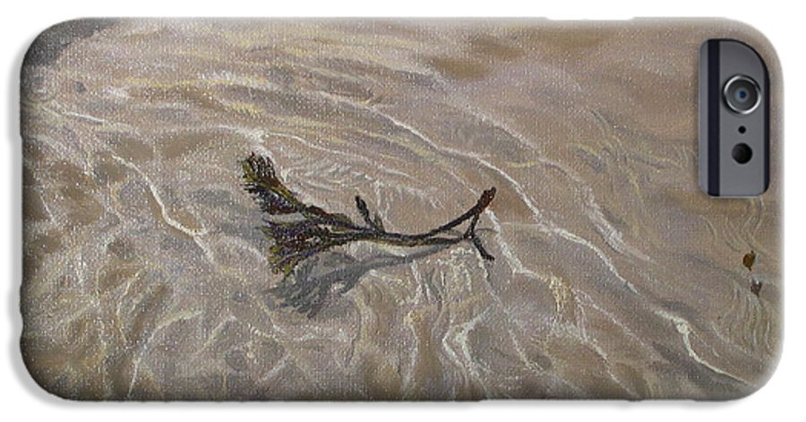 Seascape IPhone 6s Case featuring the painting Seashore Reflections by Lea Novak