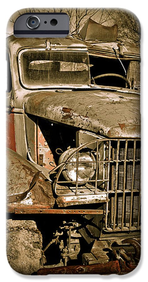 Old Vintage Antique Truck Worn Western IPhone 6s Case featuring the photograph Seen Better Days by Marilyn Hunt