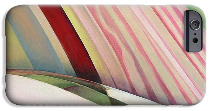 Abstract IPhone 6s Case featuring the painting Sens 1 by Muriel Dolemieux