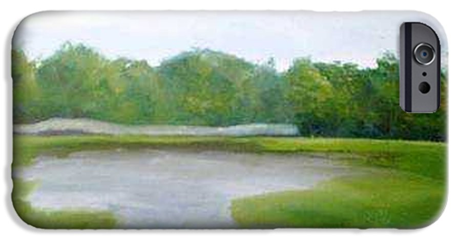 Landscape IPhone 6s Case featuring the painting Serene Vista by Sheila Mashaw