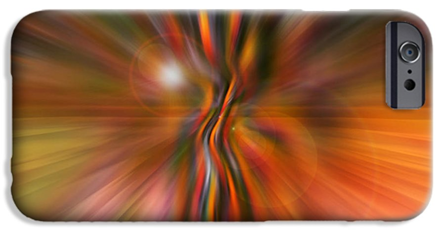 Abstract Art IPhone 6s Case featuring the digital art Shine On by Linda Sannuti