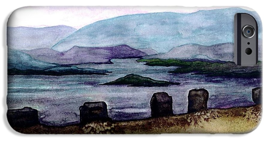 Original Painting IPhone 6s Case featuring the painting Silent Sentinels by Patricia Griffin Brett