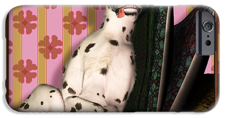 Dalmatian IPhone 6s Case featuring the digital art Sleeping IIi by Nik Helbig