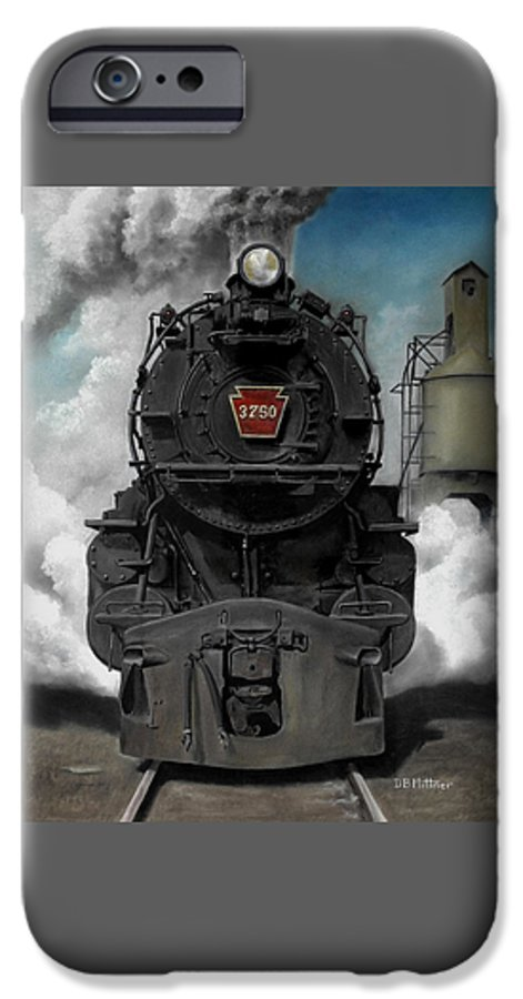 Trains IPhone 6s Case featuring the painting Smoke And Steam by David Mittner