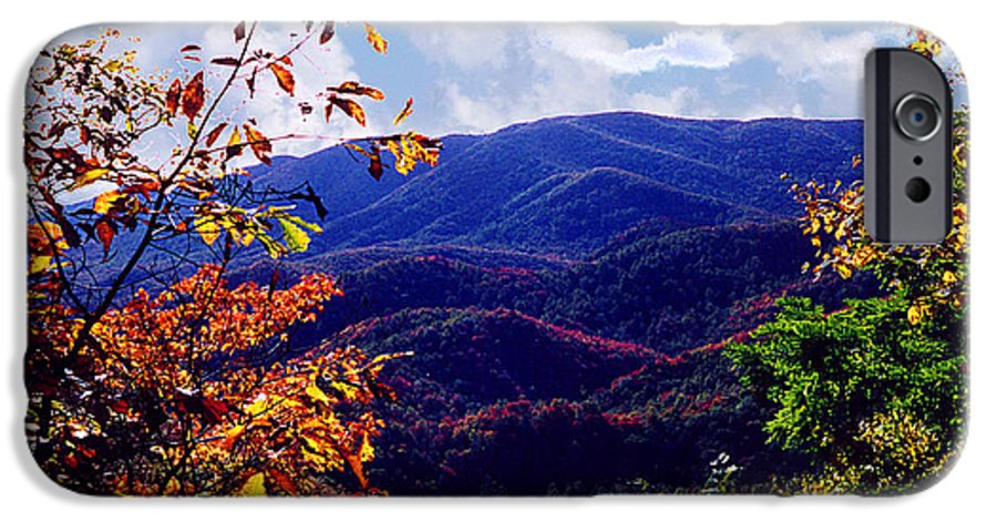 Mountain IPhone 6s Case featuring the photograph Smoky Mountain Autumn View by Nancy Mueller