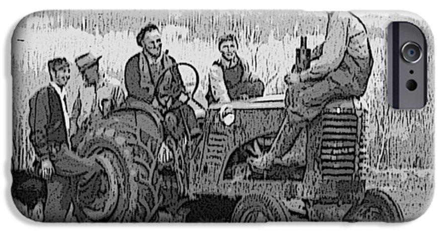 Tractor IPhone 6s Case featuring the digital art Social Gathering At The Tractor by Donald Burroughs
