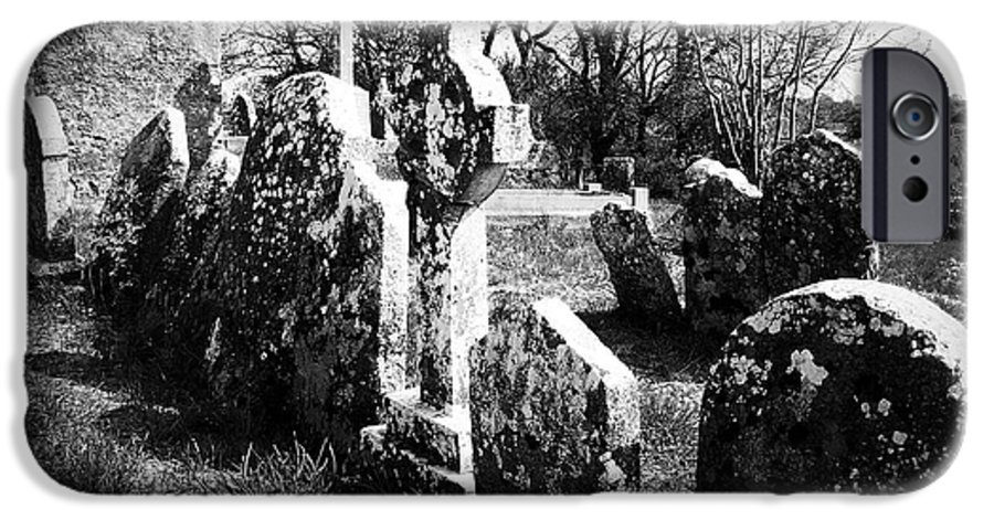 Ireland IPhone 6s Case featuring the photograph Solitary Cross At Fuerty Cemetery Roscommon Irenand by Teresa Mucha