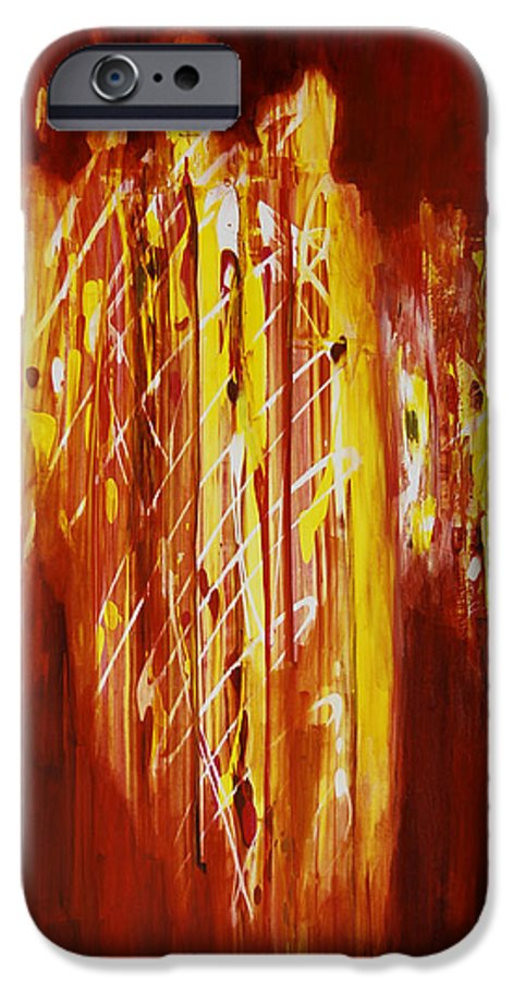 Abstract IPhone 6s Case featuring the painting Soul Train by Tara Moorman