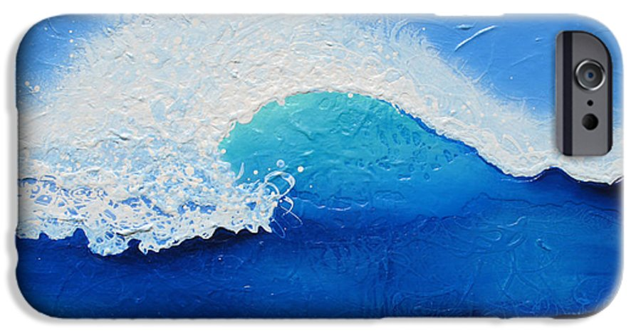 Contemporary IPhone 6s Case featuring the painting Spiral Wave by Jaison Cianelli