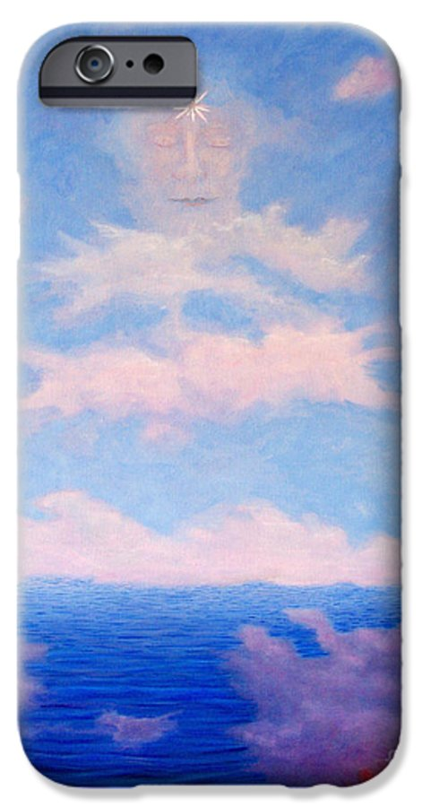 Buddha IPhone 6s Case featuring the painting Spirit Of The Lake by Brian Commerford