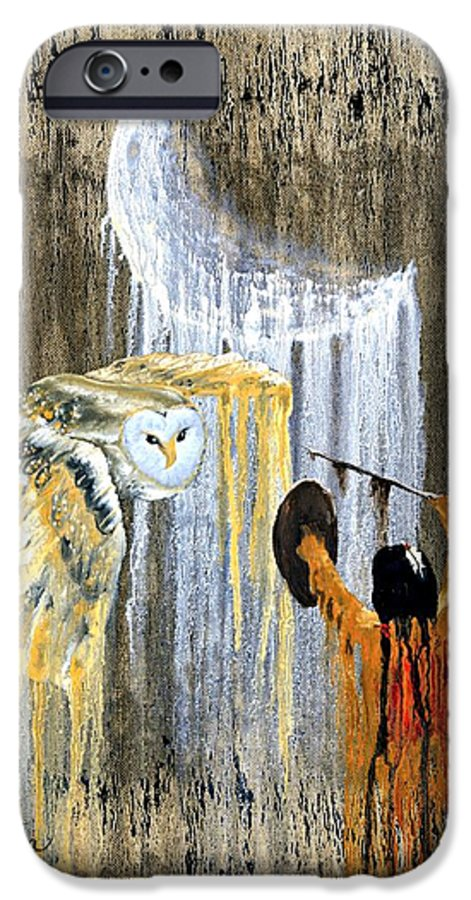 Indian Art IPhone 6s Case featuring the painting Spirit Of The Night by Patrick Trotter