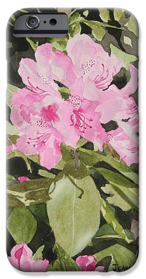 Flowers IPhone 6s Case featuring the painting Spring At The Cabin by Jean Blackmer