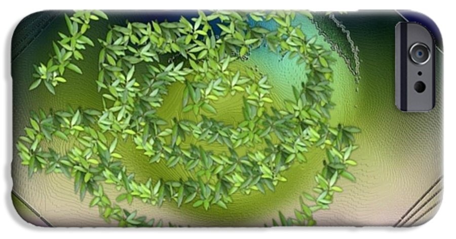 Glass.plate.leaves.salad.light.shadow.dish.kitchen.beauty.spring. IPhone 6s Case featuring the digital art Spring Salad On Glass Plate by Dr Loifer Vladimir