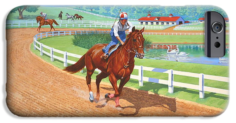 Western Artist IPhone 6s Case featuring the painting Spring Training by Howard Dubois