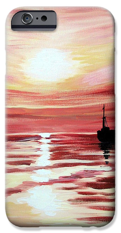 Seascape IPhone 6s Case featuring the painting Still Waters Run Deep by Marco Morales