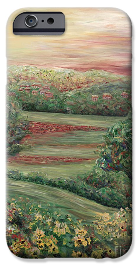 Landscape IPhone 6s Case featuring the painting Summer In Tuscany by Nadine Rippelmeyer