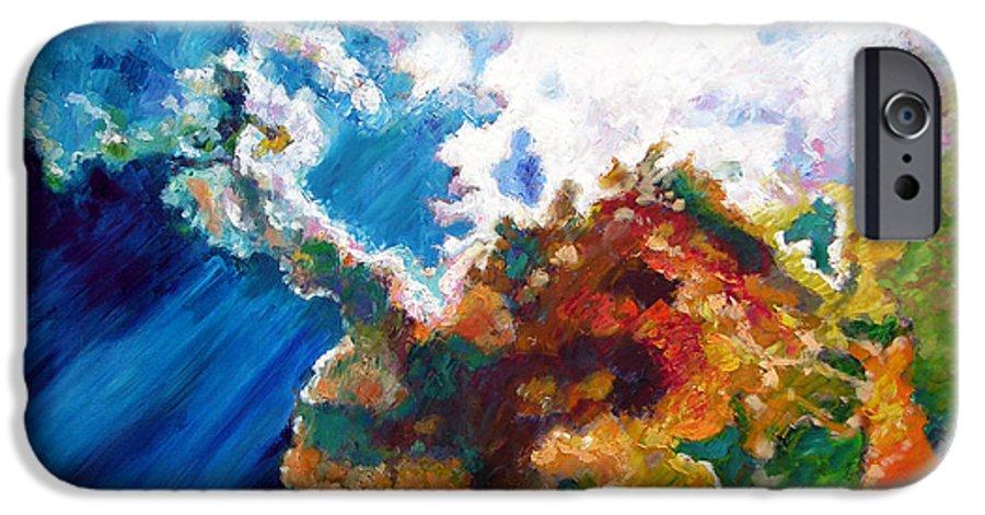Sunburst IPhone 6s Case featuring the painting Sunburst by John Lautermilch