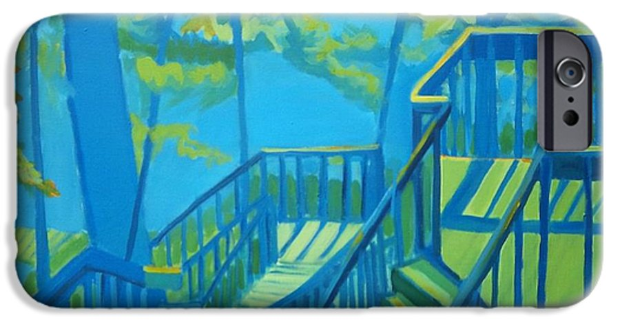 New Hampshire IPhone 6s Case featuring the painting Suncook Stairwell by Debra Bretton Robinson