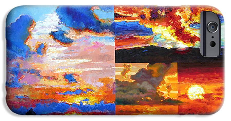 Sunrise IPhone 6s Case featuring the painting Sunrise Sunset Sunrise by John Lautermilch