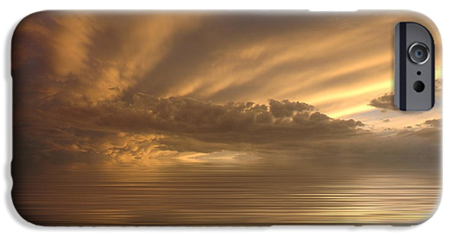 Sunset IPhone 6s Case featuring the photograph Sunset At Sea by Jerry McElroy