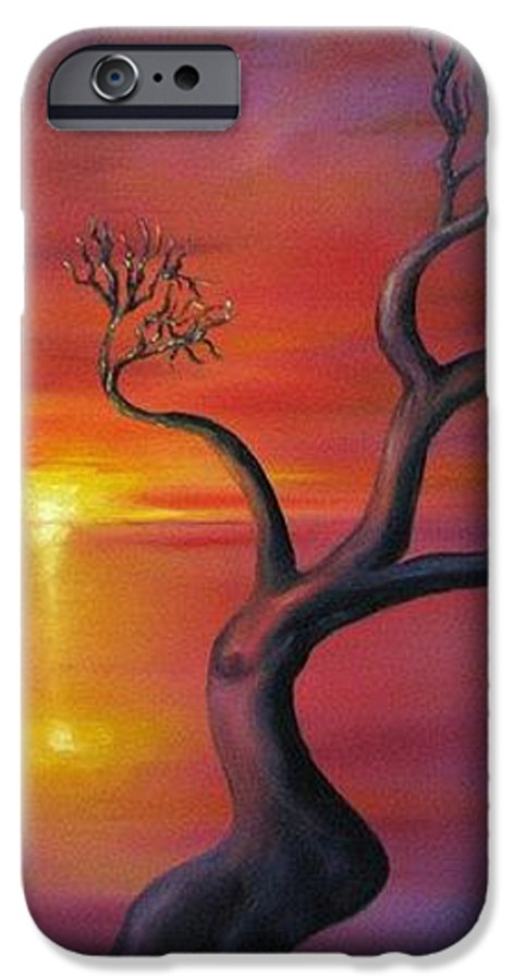 Landscape IPhone 6s Case featuring the painting Sunset Dance Fantasy Oil Painting by Natalja Picugina