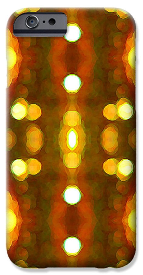 Abstract IPhone 6s Case featuring the painting Sunset Glow 2 by Amy Vangsgard
