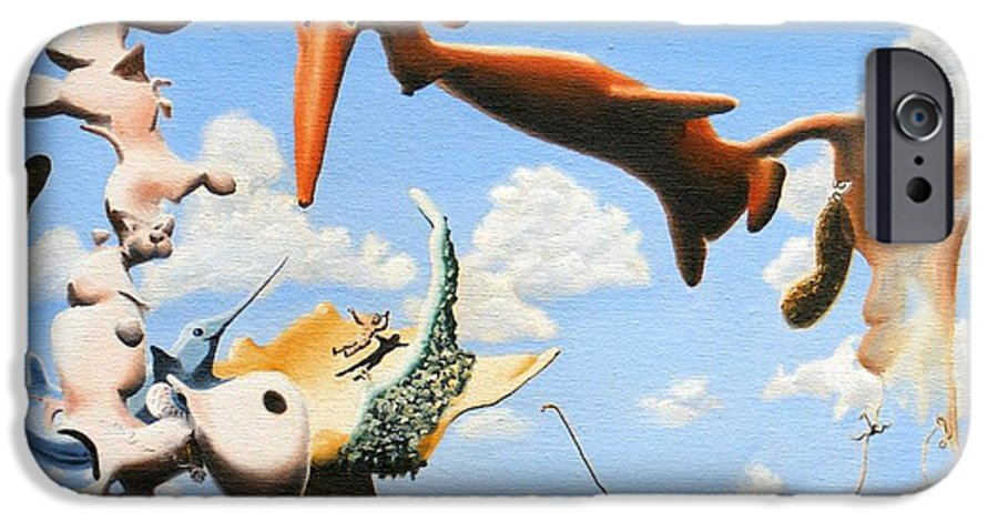 Surreal IPhone 6s Case featuring the painting Surreal Friends by Dave Martsolf