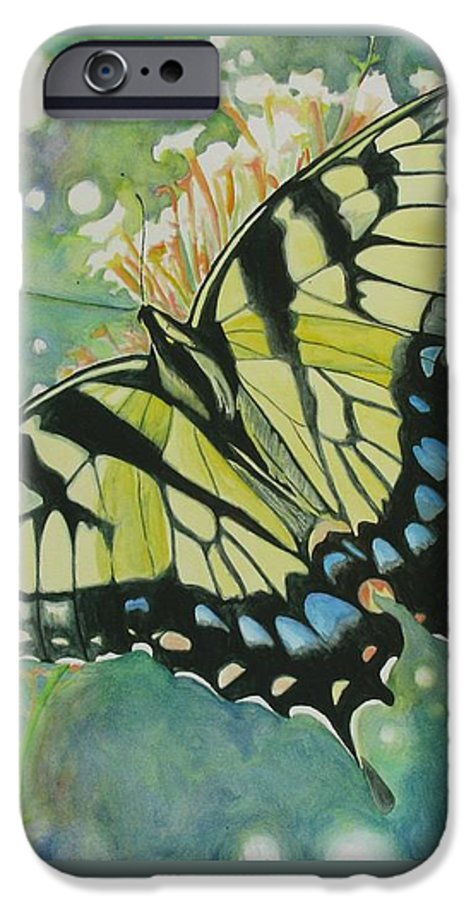 Watercolor IPhone 6s Case featuring the painting Swallowtail by Jeffrey Todd Moore