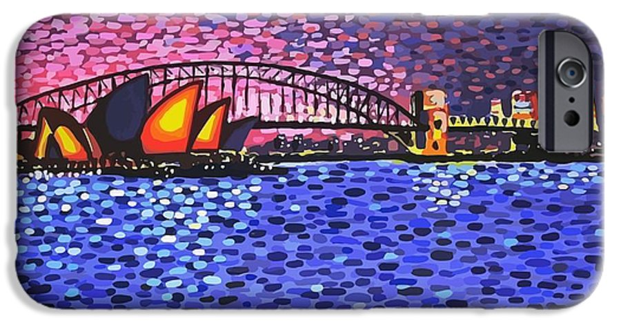 Sydney IPhone 6s Case featuring the painting Sydney Harbour by Alan Hogan
