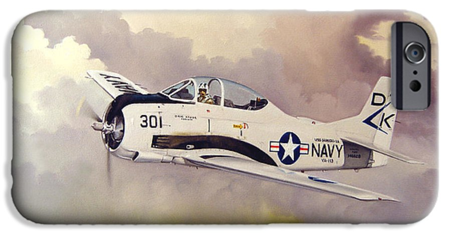 Military IPhone 6s Case featuring the painting T-28 Over Iowa by Marc Stewart
