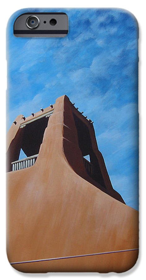 Taos IPhone 6s Case featuring the painting Taos Memory by Hunter Jay