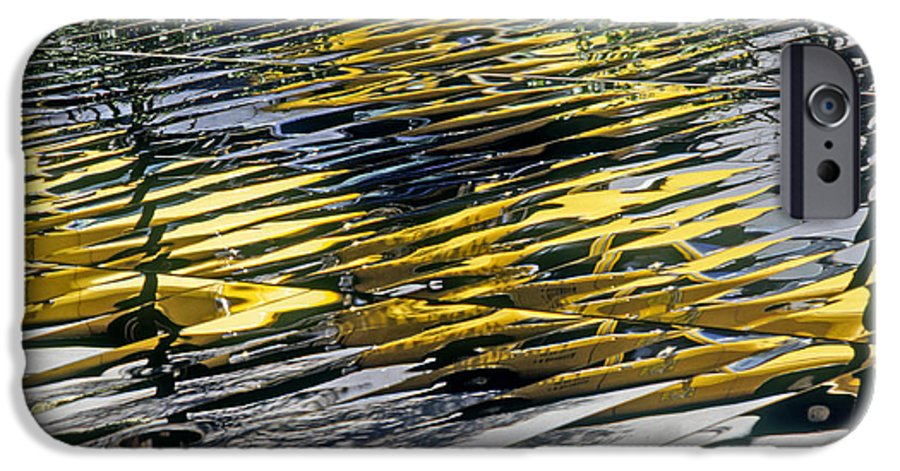 Abstract IPhone 6s Case featuring the photograph Taxi Abstract by Tony Cordoza