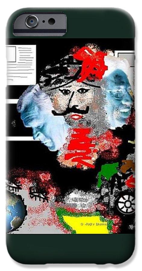 Digital Art IPhone 6s Case featuring the digital art Terror by R B