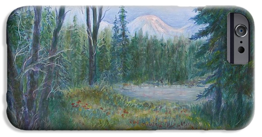 Landscape IPhone 6s Case featuring the painting Teton Valley by Ben Kiger
