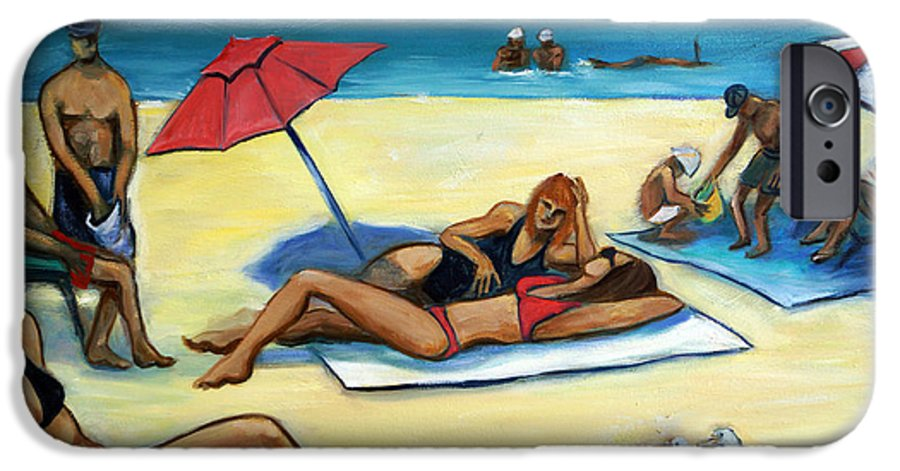 Beach Scene IPhone 6s Case featuring the painting The Beach by Valerie Vescovi