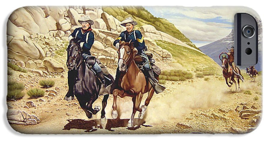 Western IPhone 6s Case featuring the painting The Chase by Marc Stewart