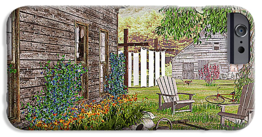 Adirondack Chair IPhone 6s Case featuring the photograph The Chicken Coop by Peter J Sucy