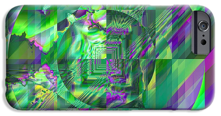 Fractal IPhone 6s Case featuring the digital art The Crazy Fractal by Frederic Durville