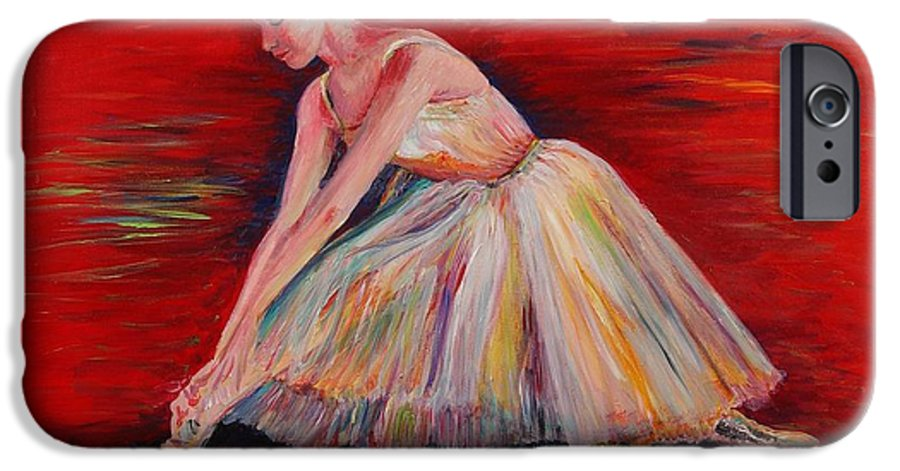 Dancer IPhone 6s Case featuring the painting The Dancer by Nadine Rippelmeyer