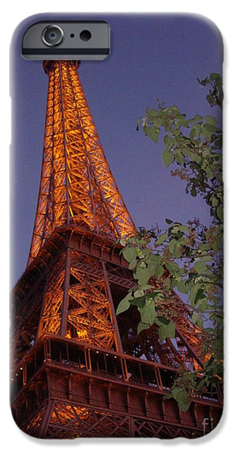 Tower IPhone 6s Case featuring the photograph The Eiffel Tower Aglow by Nadine Rippelmeyer