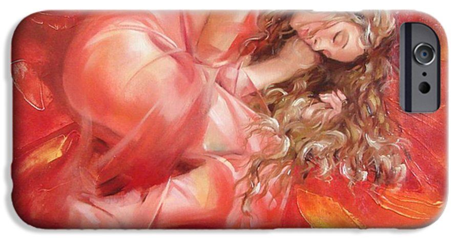 Oil IPhone 6s Case featuring the painting The Flower Paradise by Sergey Ignatenko