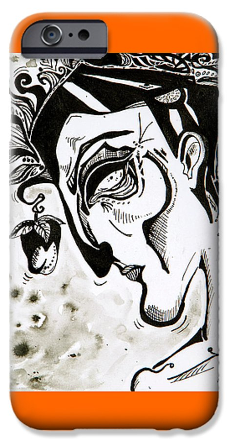 Blackandwhite IPhone 6s Case featuring the painting The Human Seasons by Brittney Norton